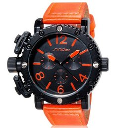 Wholesale Sinobi Watches Quality - Wholesale-SINOBI Watches Men's Sports High Quality Unisex Quartz Analog Wrist Watch Orange