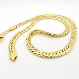 Wholesale 24 Solid Gold Chains - Snake Chain 18k Yellow Gold Filled Solid Herringbone Necklace Accessories 24 inches