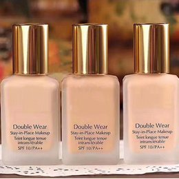 Wholesale Color Stay Makeup - 2017 Double wear Foundation Liquid 30ML Stay in Place Makeup 1oz teint longue tenue intransferable 3 Colors liquid foundation 12pcs