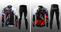 Wholesale Team Cycle Jerseys Wholesale - Spring men and women long cycling jerseys set S-3XL team customized brand bicycle clothing UV prevent unisex bike clothes