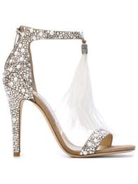 Encantos del zapato de la boda online-Nuevos zapatos de boda de la manera vestido de noche bombas High Stiletto Heel Shoe precio razonable de alta calidad zapatos encantadores 2017 mujeres marca