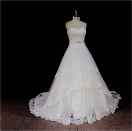 Wholesale Lace Back Wedding Gown Buy - Elegant Ivory A Line Sweetheart Wedding Dresses Lace Up Back Buy Wedding Gowns Online From China Cheap Price Bride Dresses ZB08 Vestidos