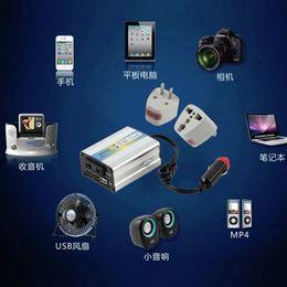 Wholesale Car 12v Usb Adaptor - 12V DC to AC 220V Car Auto Power Inverter Converter Adapter Adaptor 200W USB hot selling~