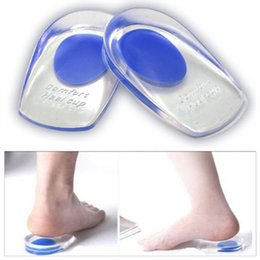 Wholesale Silicone Medical Cupping - Soft Medical Silicone Gel Foot Inserts Heel Pain Relief Spur Cup Insoles Support Shoe Taller Cushion Protetor de Calcanhar T044