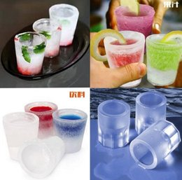 Wholesale Glasses Mold - Silicone Mold Ice Wine Glass Ice Cups Moulds ECO Ice Cube Maker Bar Party DIY Wine Glasses Beer Cold Keeper Kitchen Tools