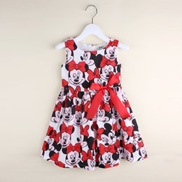 Wholesale Cute Animal Vests - Minnie Mouse Bow Sleeveless Vest Dress Kid Clothes Summer Fall Hot Sale for Girls Cartoon Cute Skirt