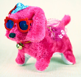 Wholesale Mail Toy - Free mail direct electric smooth puppy toys for children Wear a skirt to wear glasses puppy dog walking will decay