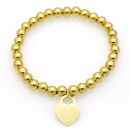 Für immer stahlschmuck online-Luxus Schmuck Marke Pulseira Edelstahl Liebe Armband Armreif Rose Gold überzogene Herz für immer Liebe Tag Armreif Schmuck für Frauen