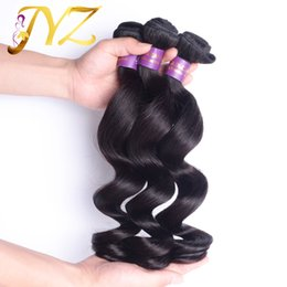 Wholesale Loose Wave Human Hair Unprocessed - Newest Brazilian Virgin Hair Weave Loose Wave Unprocessed Malaysian Peruvian Human Hair Wholesale Weft Best Quality Hair Weaves 3Pcs Lot