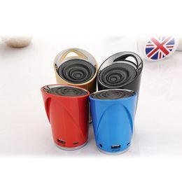 Wholesale Ds Mini Speaker - DS-709 100pcs Portable Mini Speaker Wireless Bluetooth Stereo TF USB FM Mic Handfree Subwoofer for phone Computer Free DHL
