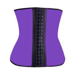 Wholesale Girdle Dhl - DHL free 100pcs lot S-2XL 4 ColorsPlus Size Waist Training Corsets and bustiers latex Trainer cincher girdles Shapewear slimming belt shaper