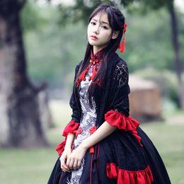 Vestido negro con rebozo