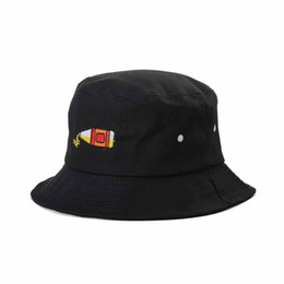 Wholesale Adult Bucket Hats - 4 Color Bottle Bucket hats Buckets caps Bucket Hats Baseball Caps Cap Snap Back Snapbacks Hat High Quality Mixed Order A062