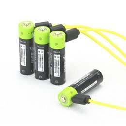 Wholesale Lithium Ion Aa Battery - New AA Rechargeable Li-ion Batteries 1.5V 1250mAh AA Battery Micro USB Slot USB Charging Free Shipping