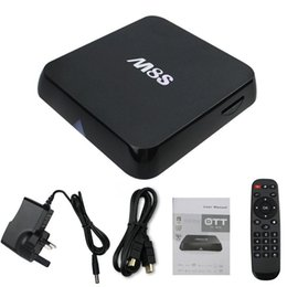 Wholesale Xbmc Media Box - 2016 New M8S Android TV Box 2G   8G Dual band 2.4 G   5 G wifi Android 4.4 Amlogic S812 4K XBMC Smart TV Media Player HD better than M8