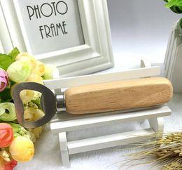 Wholesale Wine Bottle Opener Wooden - Wholesales-free shipping Stainless steel wooden handle Red wine beer bottle opener