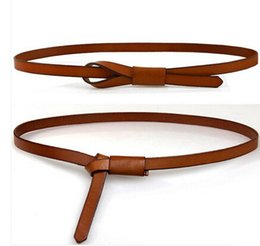 Wholesale Leather Dressings Wholesale - Women thin Genuine leather belt Girls sash top fashion accessories decoration luxury brand belts all match dresses waistband free shipping