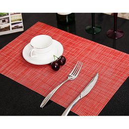 Wholesale Coloured Tables - Wholesale- 6 Colours Table Placemaat Kitchen Accessories Placemats For Table Mat Drink Coasters Cup Dishes Mug Stand Kitchen Goods
