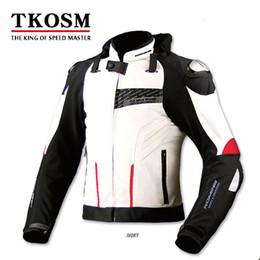 Jaquetas de segurança para motos on-line-TKOSM KOMINE JK-015 Motocicleta Roupas de Segurança Automobilismo Jaquetas À Prova de Vento Passeio Motocicleta Jaquetas Motocicleta Off-raod Vestuário