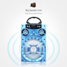 Wholesale 15w Speaker - 2017 New Arrival 15W MS-188BT Multi-functional Bluetooth Speaker Big Drive Unit Bass Colorful Backlight FM Radio Music Player