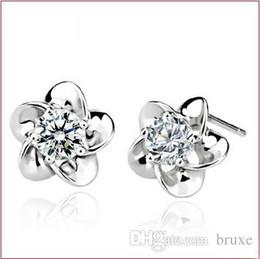Wholesale Stud Hoop - Jewelry wholesale earrings Korean temperament blossoming plum plum earrings Hoop earrings Zhang Ziyi Specials