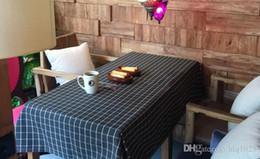 großhandel runde tischdecken Rabatt Wasserdichter ölbeständiger speisender Tischdecke-Plaid druckte rechteckige Leinenbaumwolle gedruckte Tischdecke für freies Verschiffen der Haupthochzeit