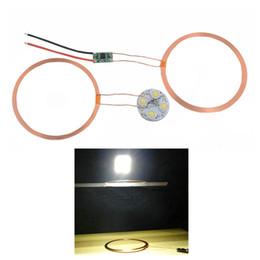 Дистанционный модуль онлайн-120 мм междугородный беспроводной модуль зарядки постоянного тока 12 В DIY беспроводной модуль питания зарядка ж / светодиодная лампа для освещения электронных
