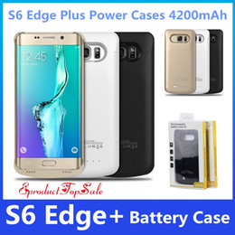Wholesale Portable Chargers Case Galaxy - Power Cases for S6 Edge Plus 4200mAh Portable External Battery Case Portable Backup Charger for Samsung Galaxy S6 Edge Plus UPS FreeShipping