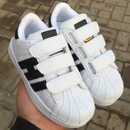Wholesale Close Children - HOT Children Kids Baby Boy Girl Casual Fashion Superstar Shell Toe Board Shoes Female Sneakers Child Zapatos Deportivas Mujer Sapatos Shoes