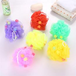Wholesale bathroom balls - High Quality colorful Sponge Bathing Ball fashion Shower Ball Colorful Sponges Bath Brushes Bathroom tools IA931