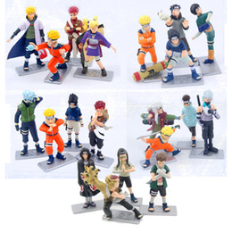 Wholesale Action Figure Itachi - 4pcs Set Japanese Naruto Anime Action Figures Sasuke Itachi Kakashi PVC Toy Dolls 10cm Cartoon Model for kids gift free shipping in stock