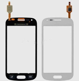 Wholesale S7562 Cover Case - Touch screen digitizer flex Glass Panel Lens front cover case For Samsung Ace 2X S7560   S Duos S7562 S7560 replacements parts DHL shipping