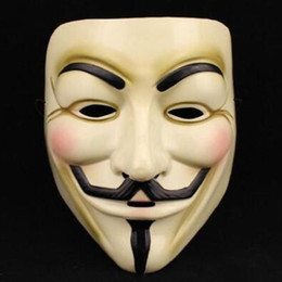 Wholesale Adult Easter Dresses - Halloween Mask V for Vendetta Mask Anonymous Guy Fawkes Fancy Dress Adult Costume Accessory Party Cosplay Masks CCA7506 500pcs