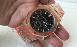 Wholesale Kinder Watch - Two kinds color Luxury AAA Mens Watches Limited Quartz movement Chronograph Rose gold Men's Watch Watches