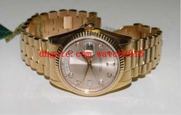 Wholesale Diamond Factory Supplier Watch - Factory Supplier Luxury Watches President 118235 Rose Gold Pink Diamond Dial 41MM Papers MAN WATCH Wristwatch