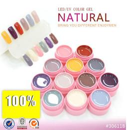 Wholesale Natural Gel Nails - LED UV Gel Cover Pure Soak Off Nail Art Tips Kit Natural Series 113-124 CANNI 12pcs lot