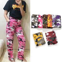 pink camouflage cargo pants Coupons - Hip Hop Camouflage Pants Men Women  Fashion Skateboard Pants High 2f621c65029