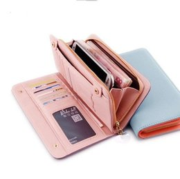 Wholesale Soft Leather Coin Purse - 2016 fashion leather zipper wallets purses for women Cross Grain Soft PU Leather Wallet handbags Clutch handbag credit card holder Totes