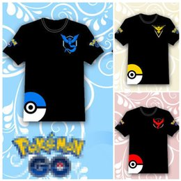 Wholesale Halloween Tank - Poke go T-shirts 3 color men woman kids Camis Pikachu Jeni turtle Charmander Squirtle Print tank tops Short sleeve T-shirts B