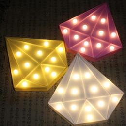 New Diamond Shap Festzelt Led Nachtlicht Batterie Wand Tischlampe Für Baby  Kinder Schlafzimmer Party Hochzeit Hause Weihnachtsdekor