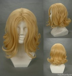 Wholesale Hetalia Cosplay Wigs - Free Shipping>>>40cm Axis Power Hetalia France blond blonde curly anime cosplay synthetic wig