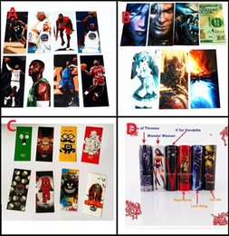 Wholesale Skulls For Boys - 29 Styles Little Devil Skull Terrified Pickle Funny Boys 18650 Battery PVC Skin Sticker Vaper Wrapper Cover Sleeve Wrap Heat Shrink for Vape