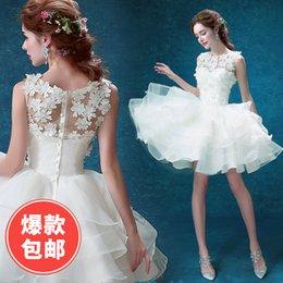 Wholesale Camo Mini Skirt - tsw19 Fashionable lace short flowers beach plus size 2017 wedding dress custom made bridal dresses Real Photo vestido de noiva