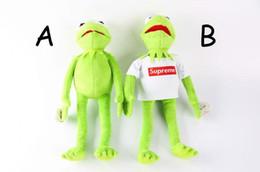 Wholesale New Products Toys - New 40cm Kermit Plush Toys Sesame Street Doll Animal Kermit Stuffed Toy Plush Frog Doll Baby Toy Christmas Birthday Gift
