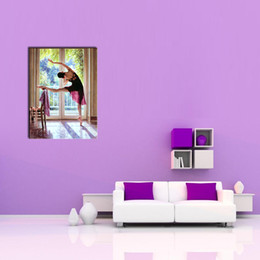 Wholesale Modern Dance Oil Painting - 1 Picture Combination Dance Modern ballet Contemporary Art Poster Print The Picture For Room Decore