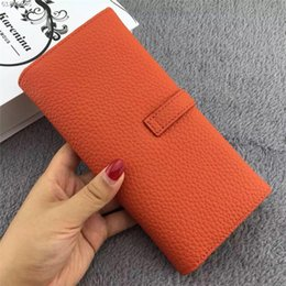 Wholesale H Genuine Leather Wallet - 2017 womens Brand Leather g brown white checked gg Genuine Leather Wallet Purse h m Wallet with coin bag l h Cowhide free Epacket shipping