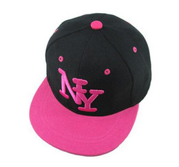 Wholesale Ny Baby Hats - 2017 New Cayler Sons Children NY Letter Baseball Cap Kid Boys And Girls Bones Snapback Hip Hop Fashion Flat Hat Baby Casquette