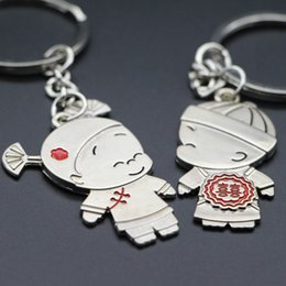 Wholesale Chinese Wholesale Key Rings - Chinese Wedding Gift Broken Child Kiss Keychains Cute Key Chain Key Ring Happy Valentine's Day Gift And Wedding Anniversary Present