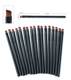 Wholesale Foundation Liner - Hot Sales Foundation Angled Eyebrow Eye Liner Makeup Brushes Brow Tool Black Handle High Quality DHL Free Shipping