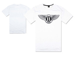 Wholesale Hip Hop Cars - luxury car logo Bentley motors t shirt B winged hip hop tshirts hip hop t-shirt supercar continental gt